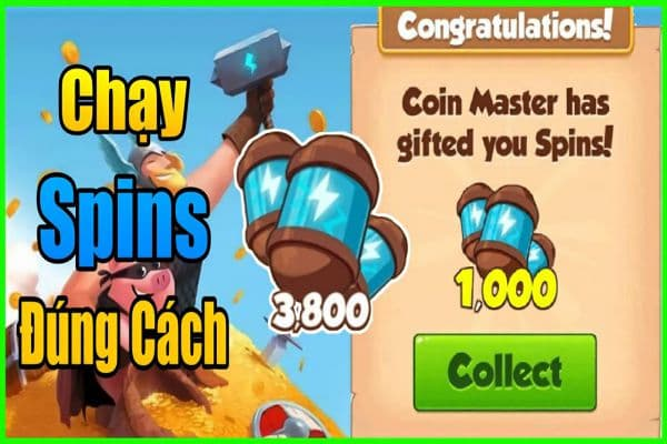 cach chay spins coin master